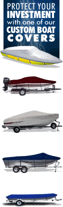 Protect your investment with one of our custom boat covers, Ski Boat Covers, V-Hull Covers, Tri-Hull Cover, Jon Boat Cover