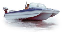 Semi-Custom Modified Tri-Hull 15' Semi-Custom Boat Covers