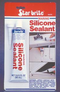 Marine Silicone Sealant, White, 3oz Tube - St …