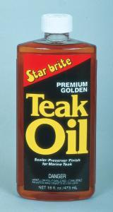 Premium Golden Teak Oil, 16oz - Star Brite