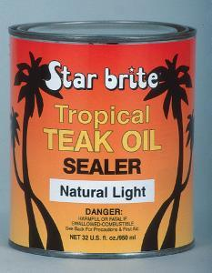 Tropical Teak Oil Sealer, Light, 32oz - Star  …