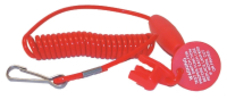 Coiled Lanyard Cut-Off Switch, Replacement fo …