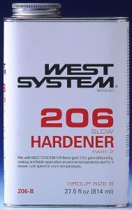 206 Slow Hardener, .86 Quart - West System