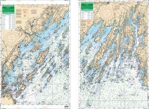 Casco Bay, Maine Nautical Marine Charts, Larg …