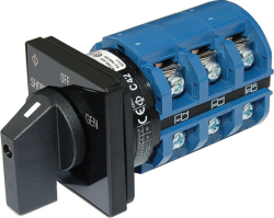 30A Switch, 2 Positions + OFF, 2-Pole - Blue  …