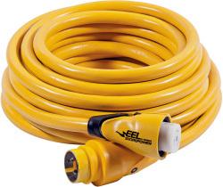 EEL Cordset, 30A/125V, 25', Yellow - Mari …