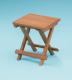 Grooved top fold away table/stool - Whitecap
