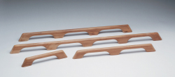 Teak Handrail - 4 loops - Whitecap
