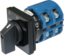 65A Switch, 2 Positions + OFF, 2-Pole - Blue  …