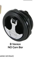 T-Handle, Non-Locking, Chrome Handle/Black Bo …