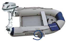 Maxxon CS-270 Inflatable Boat w/ 5hp Honda -  …