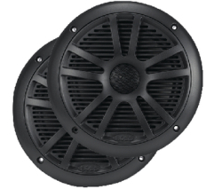 "6-1/2"" 2-Way Marine Speakers, Bl …"