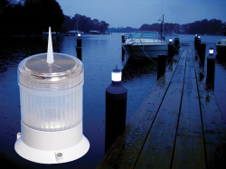 Solar Piling Cap Light - Dock Edge