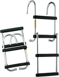 "Pontoon Ladder, 4-Step, 43"" with Deck Mo …"