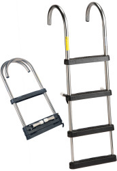 Garelick Stainless Steel Pontoon Ladder, 4-St …