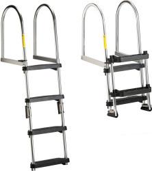 Folding Pontoon Transom Boarding Ladder, 2-4  …