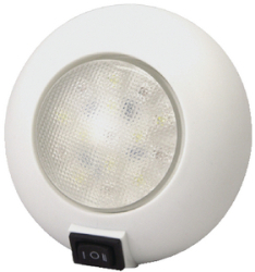 Led Surface Mount Dome Light, White/Red - T-H …