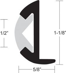 """Rub Rail, 1-1/8""""H x 5/8""""W x 12' …"""