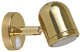 Polished Brass Reading Light, Led - Scandvik