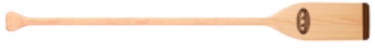 5.5' Natural Finish Wood Paddle