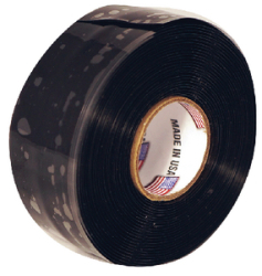 Silicone Self-Fusing Tape, Black - Seachoice