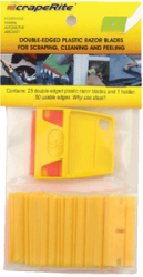 Yellow Plastic Razor Blades, 25/Pack