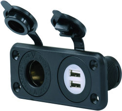 Dual USB Charger & 12V Receptacle