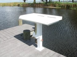 Fish Cleaning, Fillet, Pedestal Table