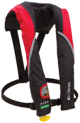 A-24 Automatic Inflatable PFD, Adult, Red - O …
