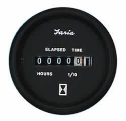 """Euro Hourmeter 12-32 Volt Dc, 2"""" - Faria"""
