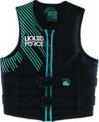Liquid Force Womens Vest Black/Teal, L, 40&qu …