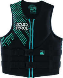 Liquid Force Womens Vest Black/Teal, XS, 28&q …