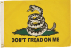 FLAG 12X18 don't TREAD ON ME