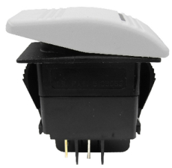 On-Off, Black, Illuminated Rocker Switch