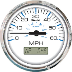 GPS SPEEDO 80MPH CHES SS WHITE