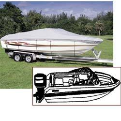 V-hull Runabout Universal Boat Cover, 17' …