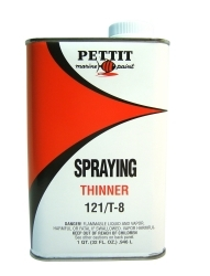 Spraying Thinner 121/T-8, Quart - Pettit Pain …