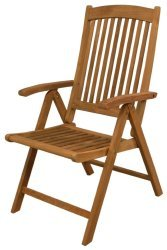 Avalon Folding 5-Position Deck Chair w/arms-  …