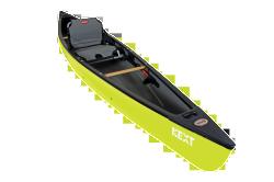NEXT Solo Canoe and Kayak Hybrid, Lemongrass  …