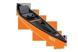 NEXT Solo Canoe and Kayak Hybrid, Orange - Ol …
