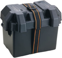 Standard Boat Battery Box, Black - Attwood