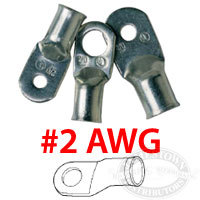 "2AWG 3/8"" Heavy Duty Cable Lugs, 2 - Anc …"