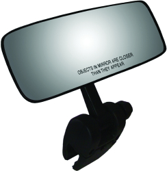 Mirror, Pivot Cup Mount, Black