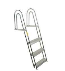 3 Step Anodized Aluminum Dock/Raft Ladder - F …