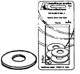 #1/4 Stainless Steel Flat Washers, 10 - Handi …