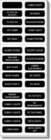 Panel Label Kit, 30 DC Basic - Blue Sea Syste …