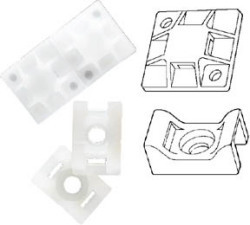 #8 Cable Tie Mounts, 25 - Marinco