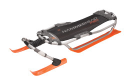 Hammerhead Pro Snow Sled, Orange - Yukon Char …
