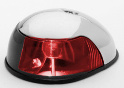 Stainless Steel Boat Sidelight, Red - Attwood