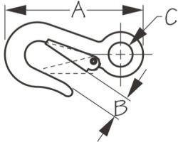 """Mooring Snap Hook 3-15/16""""L SeaDog Line"""